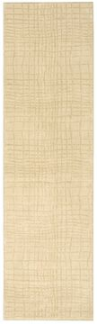Nourison NEPAL Beige Runner 6 to 9 ft Wool Carpet 101048
