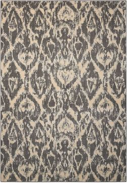 Nourison NEPAL Grey Rectangle 8x11 ft Wool Carpet 101078