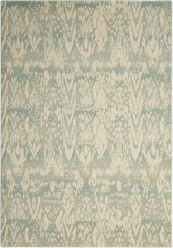 Nourison NEPAL Green Rectangle 4x6 ft Wool Carpet 101102