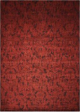 Nourison Nightfall Red Rectangle 6x9 ft Lucxelle Carpet 101142