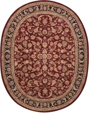 "Nourison Nourison 2000 Red Oval 7'6"" X 9'6"" Area Rug  805-101166"