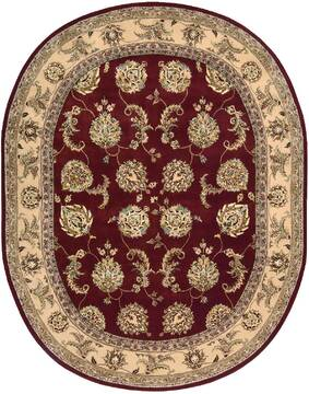 "Nourison Nourison 2000 Red Oval 7'6"" X 9'6"" Area Rug  805-101248"