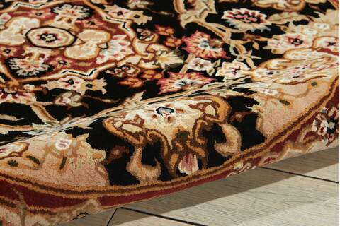 Black Oval 7x9 Ft Wool Carpet 101291