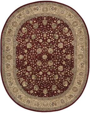 "Nourison Nourison 2000 Red Oval 7'6"" X 9'6"" Area Rug  805-101358"