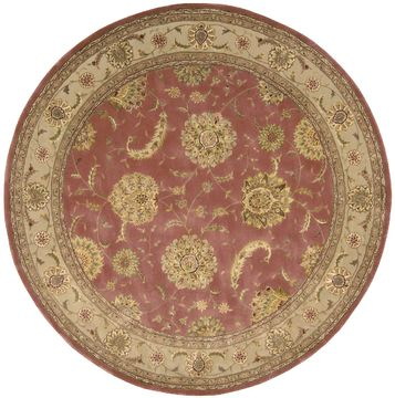 "Nourison 2000 Red Round 8'0"" X 8'0"" Area Rug 99446041357 805-101551"