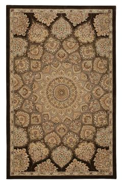 "Nourison 2000 Brown 5'6"" X 8'6"" Area Rug 99446067081 805-101662"