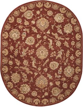 "Nourison 2000 Brown Oval 7'6"" X 9'6"" Area Rug 99446219152 805-101755"