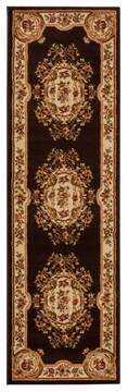 "Nourison Paramount Brown Runner 2'2"" X 7'3"" Area Rug  805-102400"