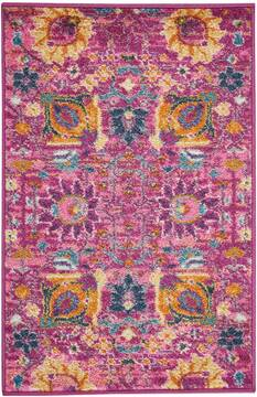 "Nourison Passion Purple 1'10"" X 2'10"" Area Rug  805-102415"