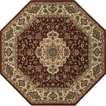 Nourison Persian Arts Brown Octagon 5 3 X Area Rug