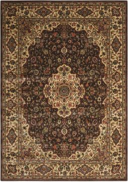 Nourison PERSIAN ARTS Brown Rectangle 5x7 ft polyester Carpet 102497