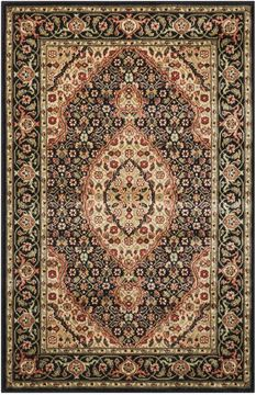 "Nourison PERSIAN ARTS Black 3'6"" X 5'6"" Area Rug 99446691064 805-102513"