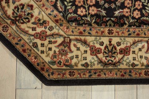 Nourison Persian Arts Black Octagon 5 To 6 Ft Polyester