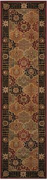 "Nourison Persian Crown Black Runner 2'2"" X 7'6"" Area Rug  805-102683"