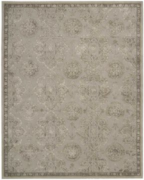 "Nourison REGAL Grey 7'9"" X 9'9"" Area Rug 99446098979 805-103025"