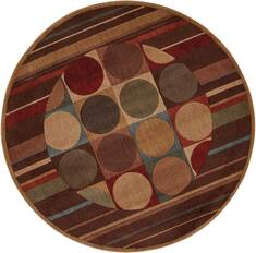 "Nourison Somerset Multicolor Round 5'6"" X 5'6"" Area Rug  805-104007"