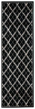 Nourison TRANQUILITY Black Runner 6 to 9 ft nylon Carpet 104639