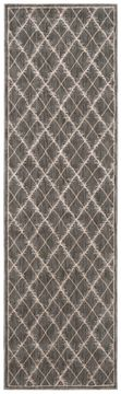 Nourison TRANQUILITY Brown Runner 6 to 9 ft nylon Carpet 104649