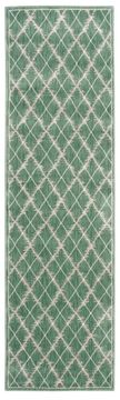 Nourison TRANQUILITY Green Runner 6 to 9 ft nylon Carpet 104654