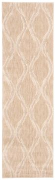 Nourison TRANQUILITY Beige Runner 6 to 9 ft nylon Carpet 104664