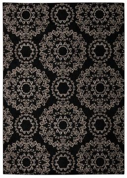 "Nourison TRANQUILITY Black 3'9"" X 5'9"" Area Rug 99446262790 805-104679"