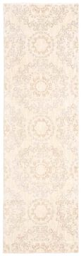 Nourison TRANQUILITY Beige Runner 6 to 9 ft nylon Carpet 104683