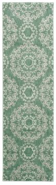 Nourison TRANQUILITY Green Runner 6 to 9 ft nylon Carpet 104688
