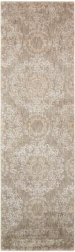 Nourison TRANQUILITY Grey Runner 6 to 9 ft nylon Carpet 104693