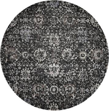 "Nourison Twilight Grey Round 8'0"" X 8'0"" Area Rug  805-104841"
