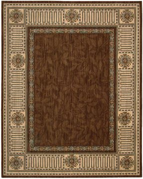 "Nourison VALLENCIERRE Brown 8'3"" X 11'3"" Area Rug 99446621054 805-105143"