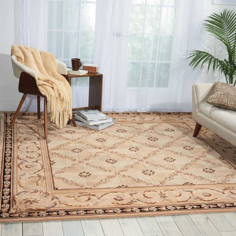 Nourison Versailles Palace Beige Octagon 5 To 6 Ft Wool