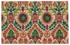 "Waverly WAV17 GREETINGS Multicolor Square 1'6"" X 2'4"" Area Rug 99446264947 805-105568"