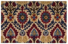 "Waverly WAV17 GREETINGS Red Square 1'6"" X 2'4"" Area Rug 99446315342 805-105572"