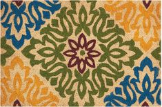 "Waverly WAV17 GREETINGS Green Square 1'6"" X 2'4"" Area Rug 99446298614 805-105618"