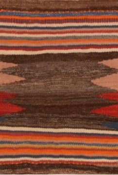 "Kilim Red Hand Knotted 1'5"" X 2'0""  Area Rug 130-105843"