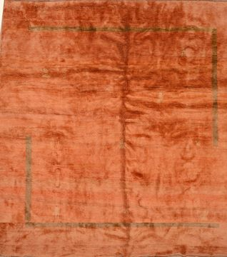 "Gabbeh Orange Hand Knotted 10'0"" X 12'1""  Area Rug 100-105896"