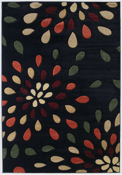 "United Weavers CONTOURS Black Runner 2'7"" X 7'4"" Area Rug 510 23176 28C 806-106171"