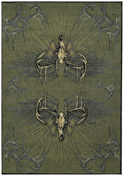 "United Weavers CONTOURS-DCBW Green Runner 2'7"" X 7'4"" Area Rug 809014195852 806-106606"