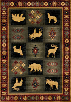 "United Weavers GENESIS Multicolor 7'10"" X 10'6"" Area Rug 530 41917 912 806-106714"