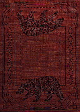 "United Weavers AFFINITY Red 5'3"" X 7'2"" Area Rug 809014274700 806-107202"