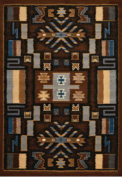 "United Weavers MANHATTAN Brown 3'11"" X 5'3"" Area Rug 809014202260 806-107413"