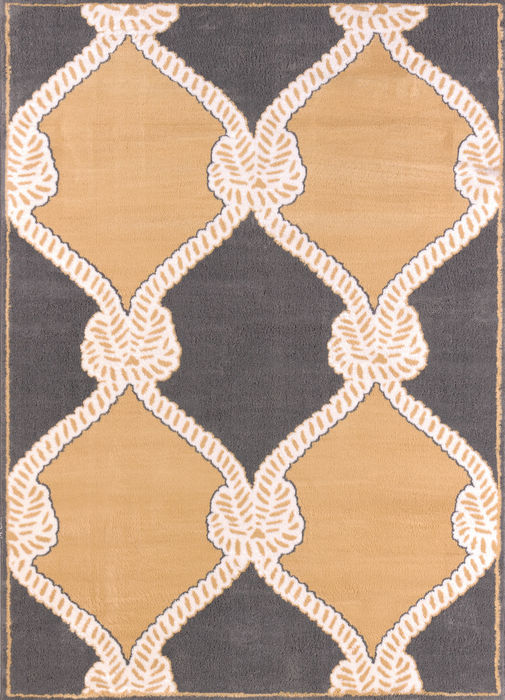 United Weavers Modern Textures Yellow Rectangle 5x7 Ft Polypropylene Carpet 107668 Sku 107668