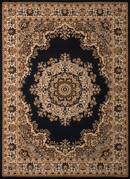 "United Weavers DALLAS Black Runner 2'3"" X 7'2"" Area Rug 809014238443 806-107703"