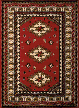 "United Weavers DALLAS Red Runner 2'3"" X 7'2"" Area Rug 809014238566 806-107711"