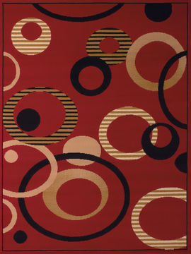 "United Weavers DALLAS Red Runner 2'3"" X 7'2"" Area Rug 809014238962 806-107751"