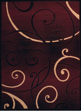 "United Weavers DALLAS Red Runner 2'3"" X 7'2"" Area Rug 809014240002 806-107851"