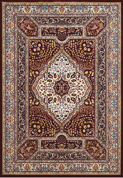 United Weavers ANTIQUITIES Brown Rectangle 3x4 ft polyester Carpet 108177