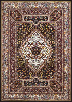 United Weavers ANTIQUITIES Brown Rectangle 3x4 ft polyester Carpet 108181