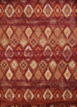 "United Weavers Bridges Red 1'10"" X 3'0"" Area Rug 809014308689 806-108676"