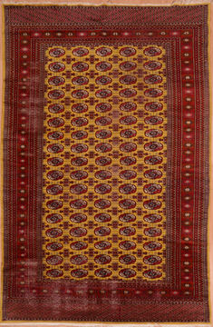 Persian Bokhara Red Rectangle 6x9 ft Wool Carpet 108982